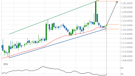 XAU/USD Target Level: 1233.4000