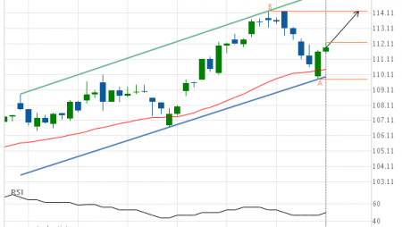 American Express Co. (AXP) up to 114.25