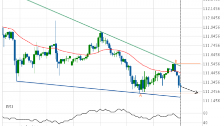 USD/JPY Target Level: 111.2290